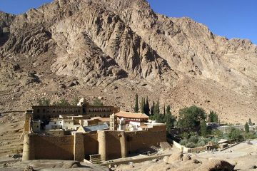 Image of St Catherine monastery near Mt Sinai